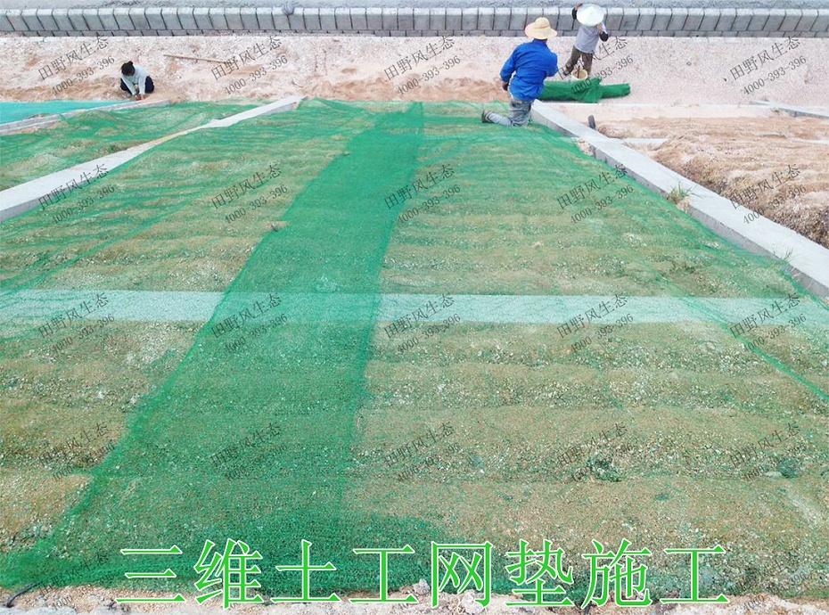 9三维土工网垫施工