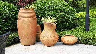 复古陶器组景