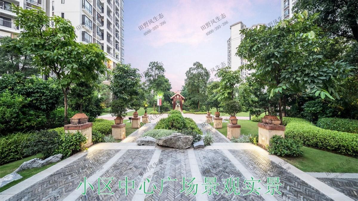 广东惠州富力地产园林景观工程
