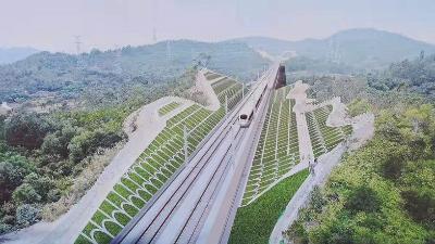 广汕高铁GSSG5标12#路基边坡植草复绿试验段工程圆满竣工!