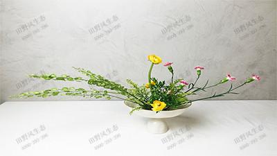 平出型艺术插花