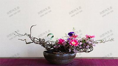 平铺型艺术插花