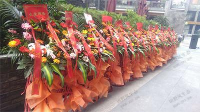 中式礼仪花篮插花