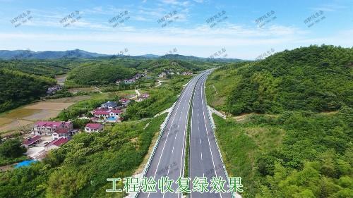 汕湛高建揭博段高速公路边坡复绿