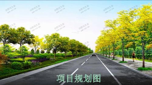 火炬开发区景观路市政景观工程