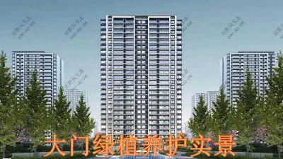 广东万科城绿植养护案例