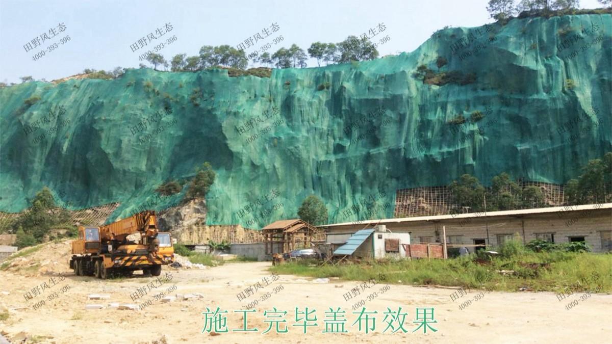 珠海横琴采石场矿山边坡植草